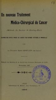 Un nouveau traitement médico-chirurgical du cancer méthode du docteur de Keating-Hart : d-après des notes prises au cours d-un voyage d-études à Marseille