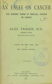 Research Paper Essay An Essay On Cancer  The Modern Trend Of Medical Opinion On Cancer  Royal  College Of Surgeons Of England  Free Download Borrow And Streaming   Internet  Example Of Thesis Statement For Essay also Best Sites To Pay Someone To Do My Assignment An Essay On Cancer  The Modern Trend Of Medical Opinion On Cancer  Interesting Essay Topics For High School Students