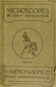 Catalogue of microscopes and accessories