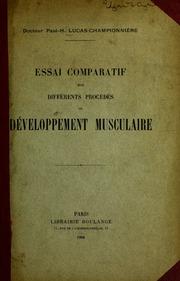 Essai comparatif sur différents procédés de développement musculaire