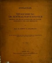 Vitalfärbung am Zentralnervensystem : Beitrag zur Physio-Pathologie des Plexus chorioideus und der Hirnhäute