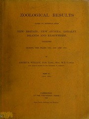 Zoological results based on material from New Britain, New Guinea, Loyalty islands and elsewhere