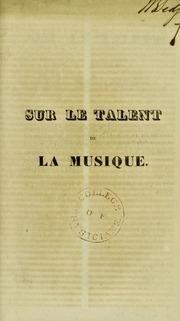 Sur le talent de la musique : discours ..., Societe Phrenologique de Paris