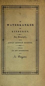 De waterkanker der kinderen; eene monographie...