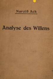 Analyse des Willens