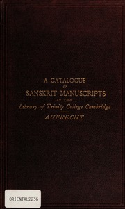 A catalogue of Sanskrit manuscripts in the library of
