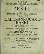 Disputatio inauguralis medica de peste...