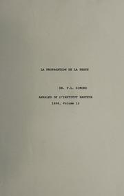La propagation de la peste