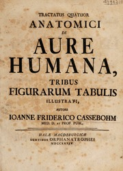 Tractatus quatuor anatomici de aure humana
