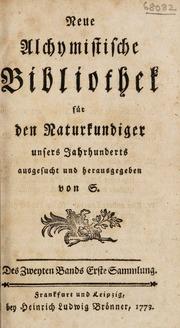 Neue alchymistische Bibliothek für den Naturkundiger unsers Jahrhunderts, Bd. 2