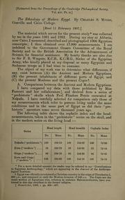 The ethnology of modern Egypt