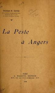 La peste à Angers