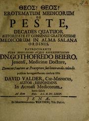 Erotematum medicorum de peste, : decades quatuor