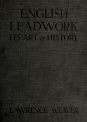 English leadwork : its art & history