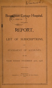 Report, list of subscriptions, and statement of accounts : 1928