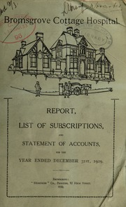 Report, list of subscriptions, and statement of accounts : 1929