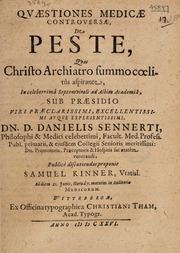 Quaestiones medicae controversae, de peste