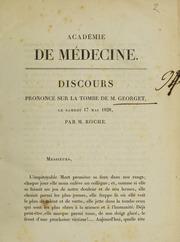 Académie de Médecine. Discours prononcé sur la tombe de M. Georget, le samedi 17 mai 1828