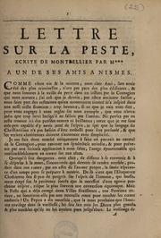 Lettre sur la peste
