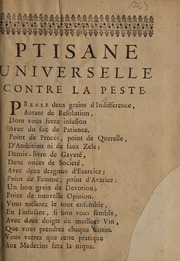 Ptisane universelle contre la peste