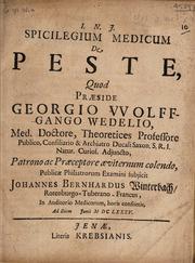 Spicilegium medicum de peste...