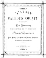 History of Calhoun county, Michigan    : Peirce, H  B