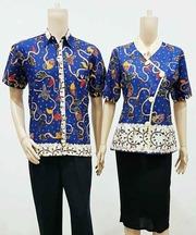 Katalog Baju Batik Sarimbit Couple Murah  senandung  Free
