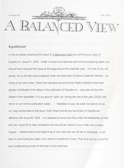 A Balanced View: No. 96