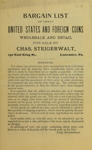 Bargain List of Cheap United States and Foreign Coins, 1905