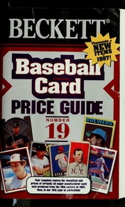 Baseball card price guide : Beckett, James : Free Download