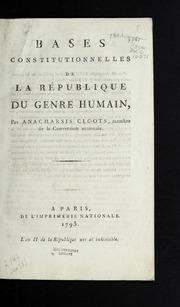 Bases constitutionnelles de la république du genre humain