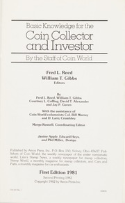 Basic Knowledge for the Coin Collector and Investor By the Staff of Coin World