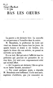 Bas les coeurs: 1870-1871