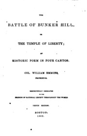 the battle of bunker hill an historic poem in four cantos  the battle of bunker hill or the temple of liberty an historic poem in four cantos