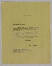 Baldwin Haines Correspondence File, 1948