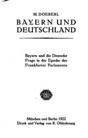 Bayern und die deutsche Frage in der Epoche des Frankfurter Parlaments