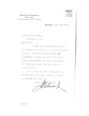 Beck Correspondence File, Adams-Mehl