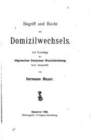 Begriff und Recht des Domizilwechsels: Auf Grundlage der Allgemeinen ...