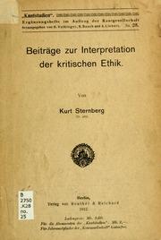 Beiträge zur Interpretation der kritischen Ethik