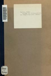 Beiträge zur Sittengeschichte der südamerikanischen Indianer; drei Abhandlungen