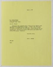 Lauren Benson, Inc. Correspondence File, 1973-1994