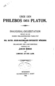 Uber Den Philebos Des Platon Eberz Otfried 1878 1958 Free Download Borrow And Streaming Internet Archive