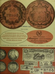 The Bernard Schaaf collection of banknotes of Brazil and Guatemala ... [09/12/1974]