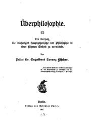Überphilosophie: Ein Versuch, die bisherigen Haupt Gegensätze der ...