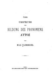 Über Ursprung und Bildung des Pronomensautos