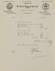Burdette G. Johnson Invoices: 1942
