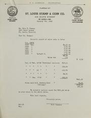 Burdette G. Johnson Invoices: 1946