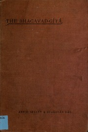 The Bhagavad-Gita : with Samskrit text, free translation