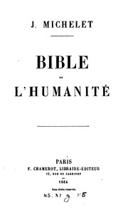 Bible de lhumanité