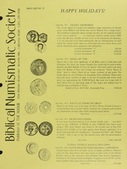 Biblical Numismatic Society Price List No. 19